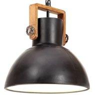 Hanglamp industrieel rond 25 W E27 30 cm gitzwart